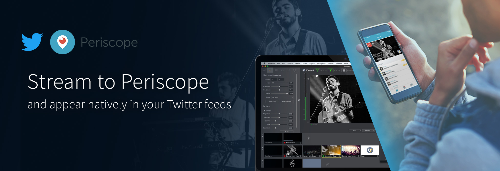 Stream to Periscope with Wirecast 7.5